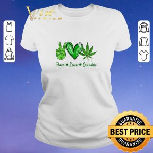 Hot Peace Love Weed Cannabis Stoner shirt sweater 1