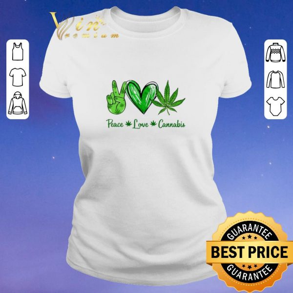 Hot Peace Love Weed Cannabis Stoner shirt sweater