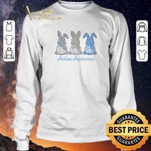 Hot Rabbit bunny Faith Hope Love Autism Awareness shirt sweater 2