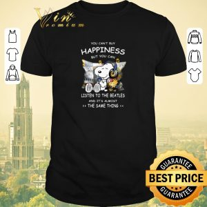 Hot Snoopy You can't buy happiness but you can listen to The Beatles shirt sweater