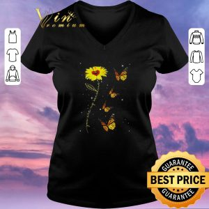 Hot You are my sunshine sunflower butterfly shirt sweater 1