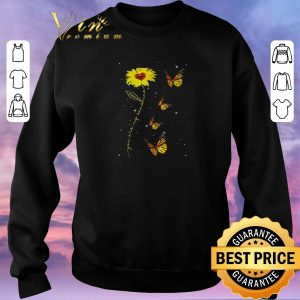 Hot You are my sunshine sunflower butterfly shirt sweater 2