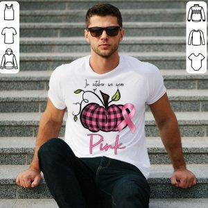 In October We Wear Pink Pumpkin Breast Cancer Awareness Gift shirt
