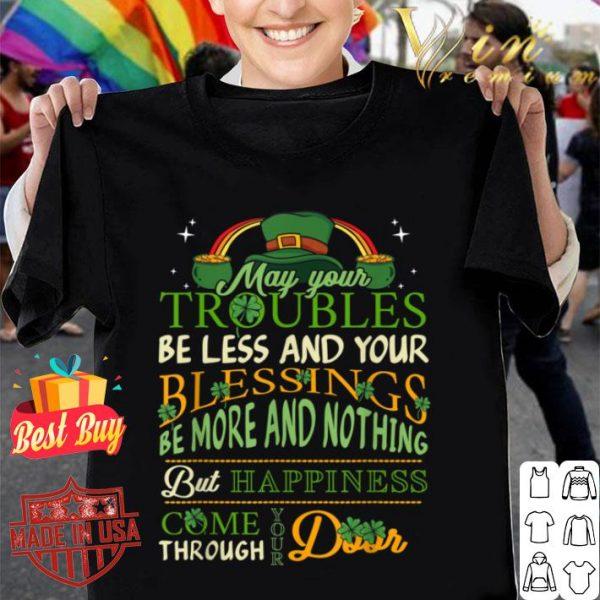 Irish Blessing St Patricks Day Leprechaun Rainbow Irish Gift T-shirt