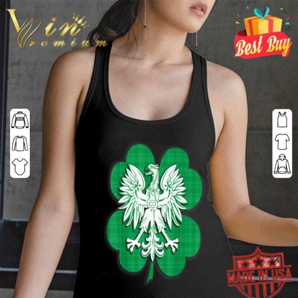 Irish Polish Family Heritage Shamrock St Patricks Day shirt