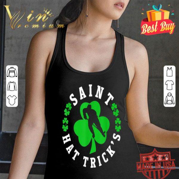 Irish St Patrick's Hockey Shamrock Saint Hattrick's shirt