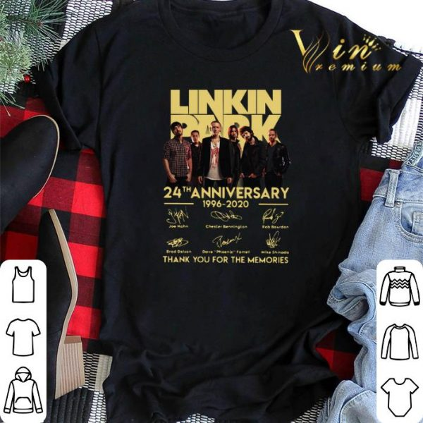 Linkin Park 24th anniversary 1996-2020 thank you for the memories shirt sweater
