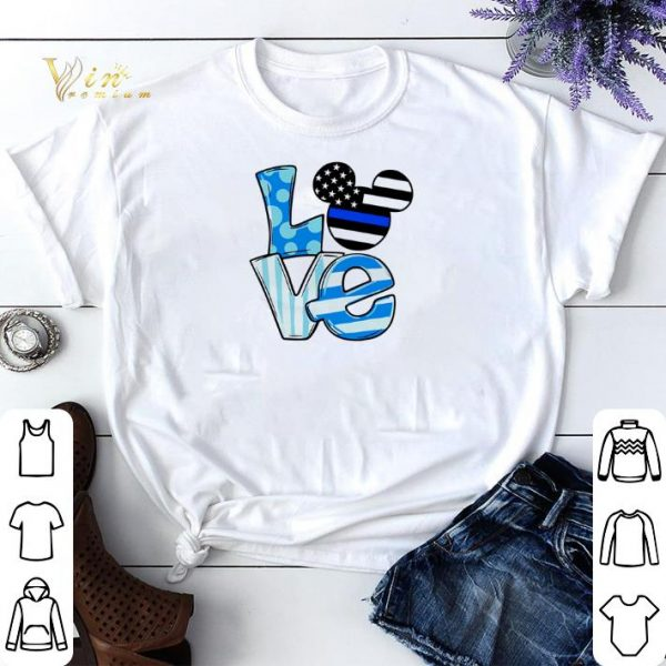 Love Mickey Mouse Thin Blue Line shirt sweater