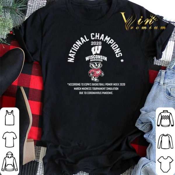 National Champions 2020 Wisconsin Badgers shirt sweater
