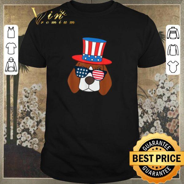 Nice July 4th American Sunglasses USA Flag Patriotic Beagle Dog shirt sweater