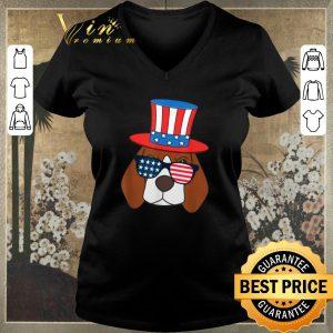 Nice July 4th American Sunglasses USA Flag Patriotic Beagle Dog shirt sweater 1