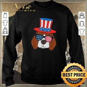 Nice July 4th American Sunglasses USA Flag Patriotic Beagle Dog shirt sweater 2