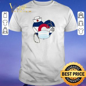 Nice Love Colorado Stethoscope nurse mask shirt sweater