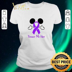 Nice Mickey mouse forget me not Fibromyalgia Awareness shirt sweater 1