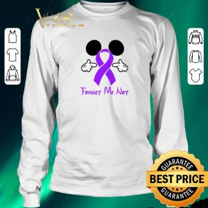 Nice Mickey mouse forget me not Fibromyalgia Awareness shirt sweater 2