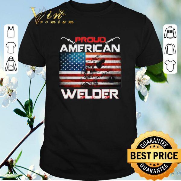 Nice Proud American flag Welder shirt sweater