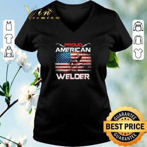 Nice Proud American flag Welder shirt sweater 1