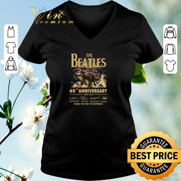 Nice The Beatles 60th anniversary 1960 2020 thank you for the memories signatures shirt sweater