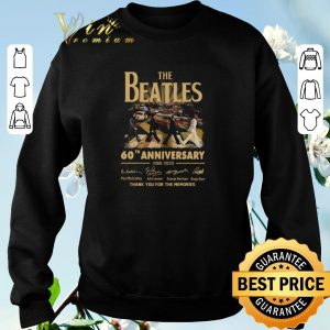 Nice The Beatles 60th anniversary 1960 2020 thank you for the memories signatures shirt sweater 2