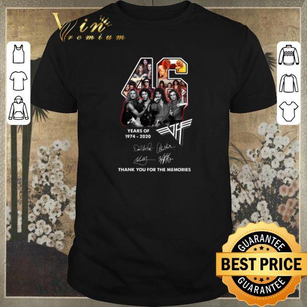 Official 46 Years Of 1974-2020 Van Halen Rock band Signatures shirt sweater