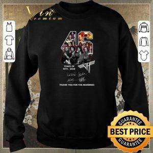 Official 46 Years Of 1974-2020 Van Halen Rock band Signatures shirt sweater 2
