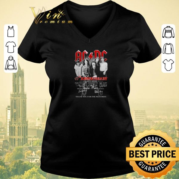Official AC DC 47th Anniversary 1973 2020 thank you for the memories shirt sweater
