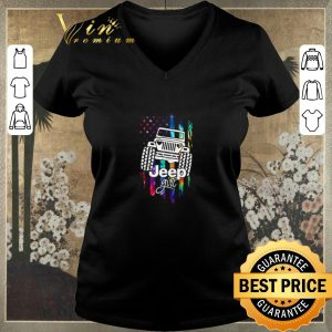 Official American Flag Jeep Girl Colors shirt sweater 1