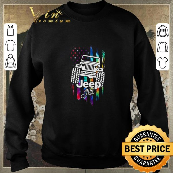 Official American Flag Jeep Girl Colors shirt sweater