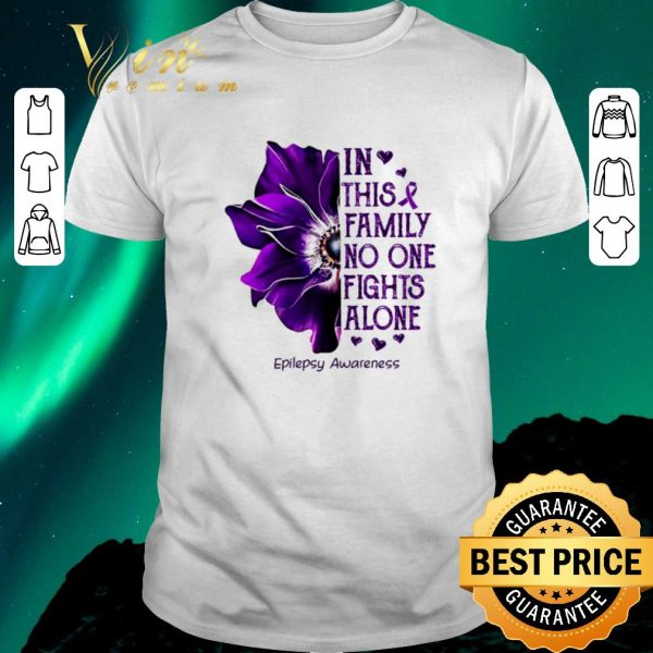 Official Anemone in this family no one fights alone Epilepsy Awareness shirt sweater
