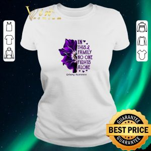 Official Anemone in this family no one fights alone Epilepsy Awareness shirt sweater 1