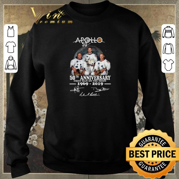 Official Apollo 50th anniversary first Man on the moon 1969-2019 signature shirt sweater