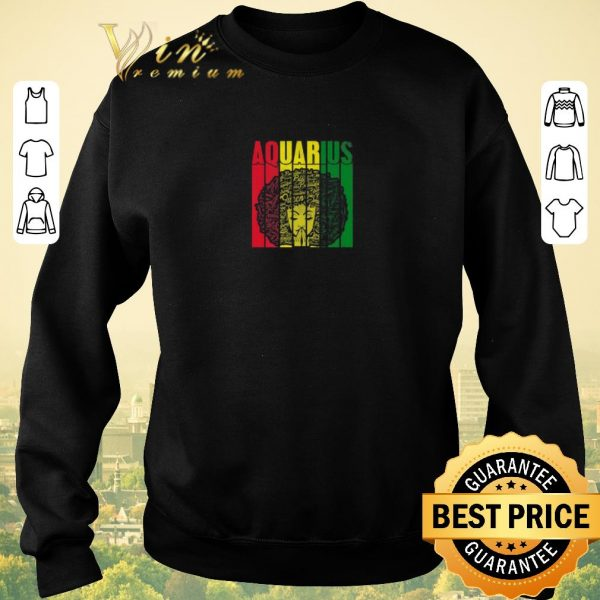 Official Aquarius Girl Jamaican Black Girl Rasta shirt sweater