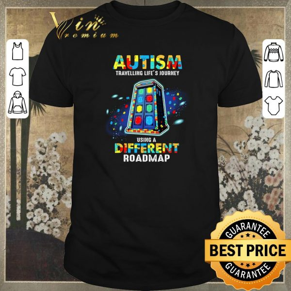 Official Autism travelling life's journey using a different roadmap shirt sweater