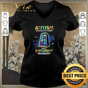 Official Autism travelling life's journey using a different roadmap shirt sweater 1