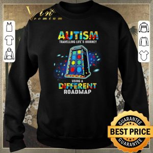 Official Autism travelling life's journey using a different roadmap shirt sweater 2