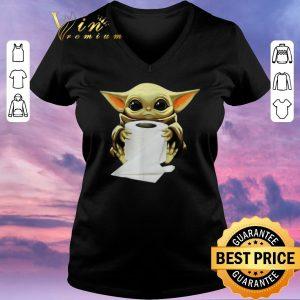 Official Baby Yoda hug toilet paper Coronavirus shirt sweater 1