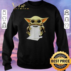 Official Baby Yoda hug toilet paper Coronavirus shirt sweater 2