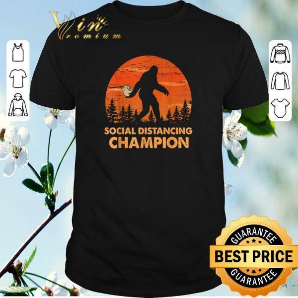 Official Bigfoot toilet paper social distancing champion sunset shirt sweater