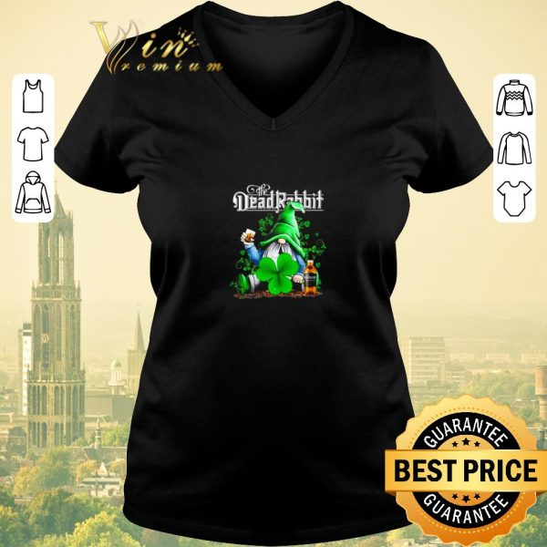 Official Gnome The Dead Rabbit Irish Whiskey St. Patrick's day shirt sweater