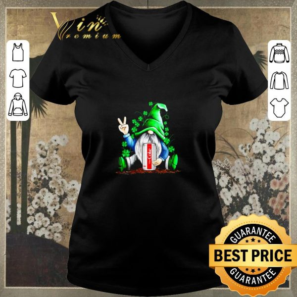 Official Gnome hold Diet Coke Irish Shamrock St. Patrick's day shirt sweater