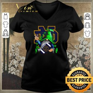Official Gnomes hug Notre Dame Fighting Irish Logo St. Patrick's day shirt sweater 1