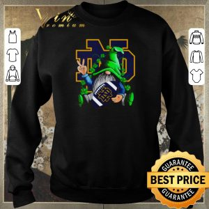 Official Gnomes hug Notre Dame Fighting Irish Logo St. Patrick's day shirt sweater 2