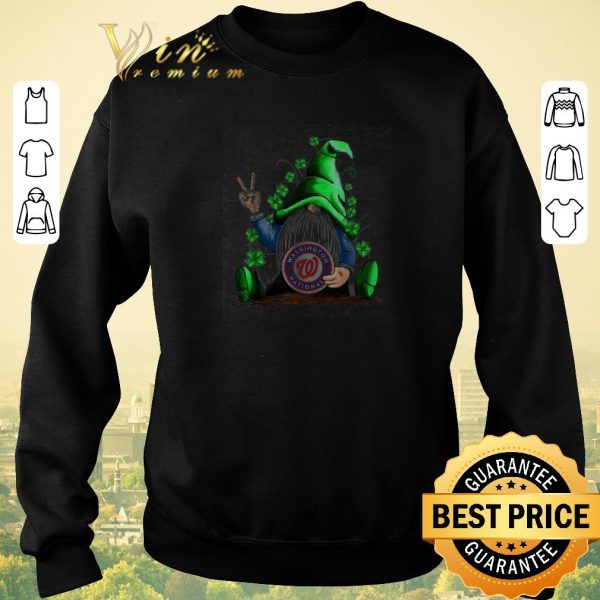 Official Gnomes lucky hug Washington National St. Patrick's day shirt sweater
