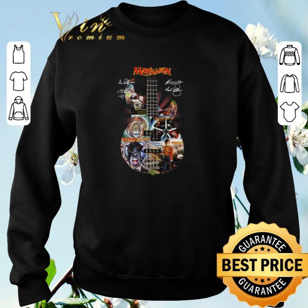 Official Guitarist Marillion Band Rock signatures shirt sweater