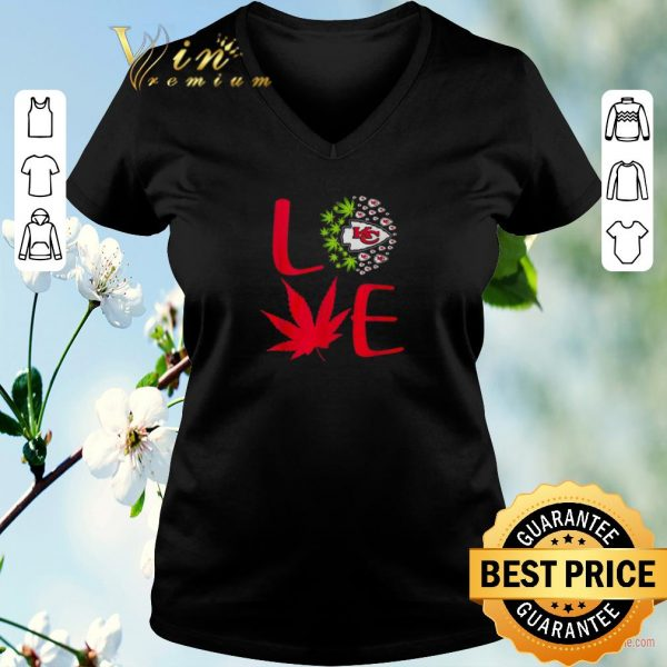 Official Love Kansas City Chiefs weed cannabis marijuana shirt sweater