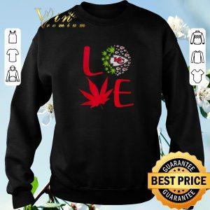Official Love Kansas City Chiefs weed cannabis marijuana shirt sweater 2