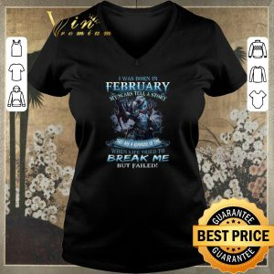 Official Wolf warrior i was born in February my scars tell a story shirt sweater 1
