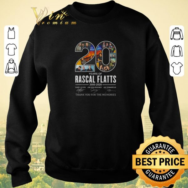 Original 20 years of Rascal Flatts 2000-2020 signatures shirt sweater