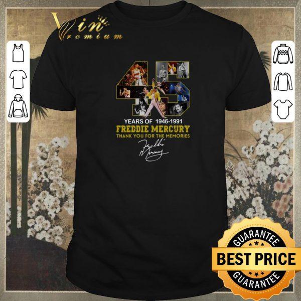 Original 45 years of 1946-1991 Freddie Mercury thank you for the memories shirt sweater