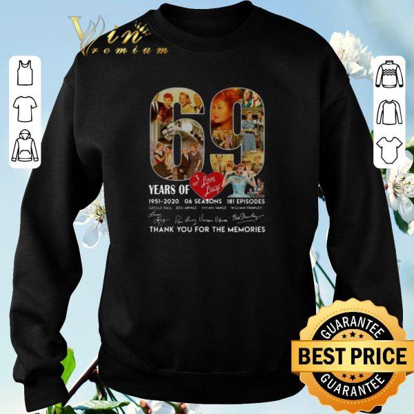 Original 69 years of i love lucy 1951-2020 06 seasons 181 ep signatures shirt sweater